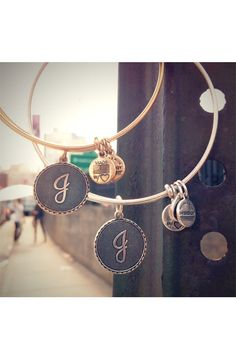 For Her: Alex and Ani Script Initial Bangle #Nordstrom #Holiday