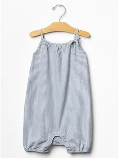 Railroad stripe denim one-piece | Gap