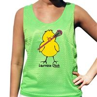 Lacrosse Chick Lacrosse Pinnie - Our 100% Polyester mesh pinnies are the top choice for comfort and performance. This reversible pinnie is moisture wicking and anti-microbial keeping you dry, odor free and comfortable.