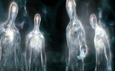 These are good reps of 5th and 6th Vibrational realm Beings...they appear as Light people...