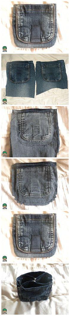 Jeans transformation purse