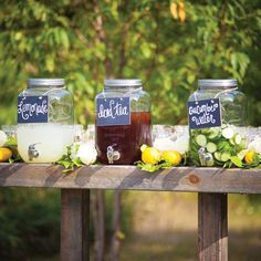 Outdoor Ceremony Drink Station from wedding at Snow Moon Ranch in Maple City… Second Weddings, Real Weddings, Summer Weddings, Wedding Ceremony Decorations, Wedding Reception, Wedding Ceremonies, Elegant Wedding, Diy Wedding, Wedding Ideas