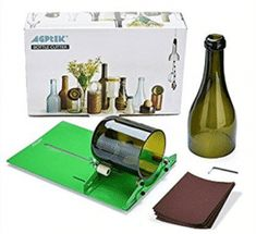 AGPtek Long Glass Bottle Cutter Machine Cutting Tool For Wine Bottles Painted Wine Bottles, Glass Bottles, Bottle Lamps, Wine Bottle Crafts, Beer Bottle, Bottle Art, Glass Cutters, Diy Recycling, Reuse Recycle