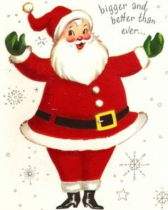 Old Christmas Post Сards — Vintage 'Santa Claus', 1940's  (477x600)