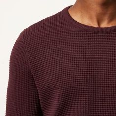I'm shopping Dark red waffle long sleeve jumper in the River Island iPhone app.