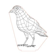 Crow illusion lamp plan vector file for CNC - 3d Illusion Art, Laser Engraving, Engraving Ideas, Lampe Led, Mosaic Wall, Led Night Light, Geometric Art, Vector File, Plexus Products