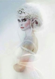elf, fantasy, and princess image Foto Fantasy, Fantasy World, Fantasy Art, Snow Queen, Ice Queen, Magical Creatures, Fantasy Creatures, Snow Fairy, Winter Fairy