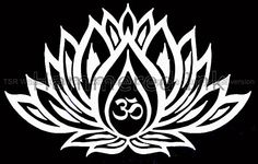 Tribal Hippy Yoga Lotus Flower 2 Die Cut Vinyl Car Decal Window Sticker