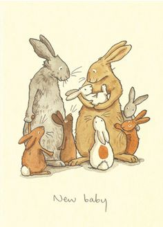 M113 NEW BABY - a Two Bad Mice card by Anita Jeram