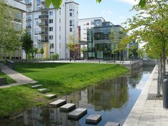 Eco-district, Hammarby Sjöstad, Stockholm, Sweden. Click image for details, and visit the Slow Ottawa 'Stormwater Solutions' board for more sustainable water management.