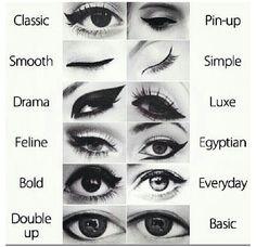 Eyeliner. i like the feline.