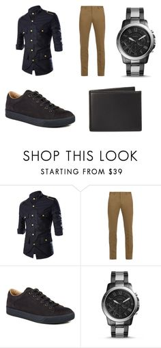 """""""First date look"""" by nkennedy-i on Polyvore featuring Paul Smith, Lanvin, FOSSIL, The Men's Store, men's fashion and menswear"""