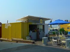 Awesome Shipping Container Shops to Pop Up on NJ's Asbury Park Boardwalk Read more: Awesome Shipping Container Shops to Pop Up on the Asbury Park Boardwalk in NJ Cargo Container Homes, Container Shop, Container Buildings, Container Design, Container Houses, Shipping Container Restaurant, Used Shipping Containers, Shipping Container Homes, Popup