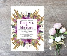 A personal favorite from my Etsy shop https://www.etsy.com/listing/249939198/wedding-invitation-digital-file-photo