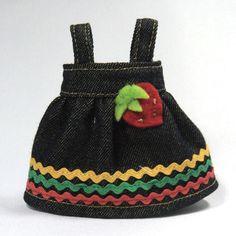 """Strawberry"" Denim Dress for Lati Yellow"
