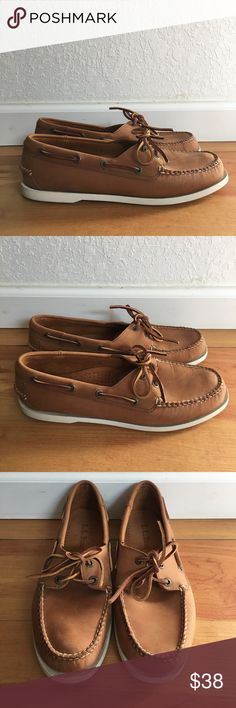 Men's Boat Shoes Like new. Men's size 10. Nubuck camel/tan color boat shoes. L.L. Bean Shoes Boat Shoes
