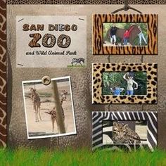 zoo scrapbook page ideas. I will do this with our trip to the zoo. Vacation Scrapbook, Disney Scrapbook, Baby Scrapbook, Scrapbook Albums, Scrapbook Cards, Zoo Pictures, Birthday Scrapbook, Creative Memories, Scrapbook Page Layouts