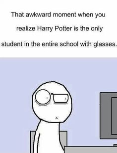 BECAUSE EVERY OTHER STUDENT KNOWS A SPELL TO FIX EYESIGHT. OR SNAPE KNOWS A POTION AND *obviously* HATES HARRY