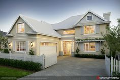 Amazing hampton style homes ideas for your inspiration. Best style of houses in the hamptons (architecture, house plans, etc). Die Hamptons, Hamptons Style Homes, House Plans Australia, Casas Containers, Room Additions, Facade House, House Facades, Design Furniture, Painted Furniture