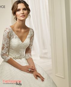 If you want the elegance of a sleeve without feeling too covered up, another fashionable choice is the three-quarter length sleeve. Very popular with English country garden brides, this is a flatte…