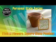 Cindi McGee - Behind These Eyes : Etched Flowers Square Glass Pendant DIY Video - etchall®