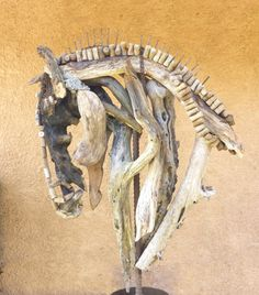 Heather Jansch Horse Head sculptures in Driftwood & Bronze all sizes Love the use of wine corks......