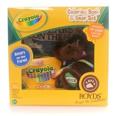 Boyds Bears Plush Crayola Fuzzy B Brown Teddy Bear
