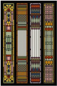 Art Nouveau Stain Glass Panel Cross stitch pattern PDF by Whoopicat