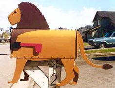 A majestic Lion mailbox will set your house apart from the rest! Mailboxes are… Wood Projects, Projects To Try, Unique Mailboxes, You've Got Mail, Mail Boxes, Lion Art, Covered Bridges, Good Company, Letter Boxes