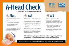 #Concussion Check - This A-Head Check can help get aid in time.