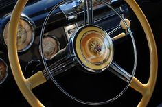 1947 Buick Eight Super Steering Wheel Photograph by Jill Reger - 1947 Buick Eight Super Steering Wheel Fine Art Prints and Posters for Sale