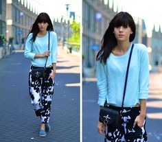 Cow Print Trousers, Chanel Espadrilles, Givenchy Bag