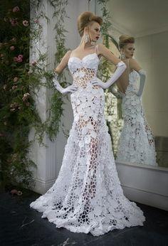 Beautiful Cut-Out Wedding Dress