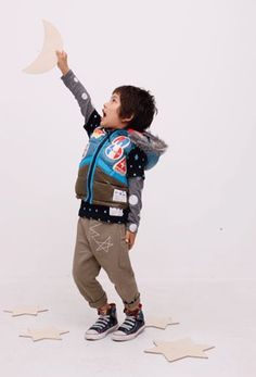 Mol - Japanese Kids Fashion series - the Chief of Fashion Mischief  Mol_Puffy_Vest with patches