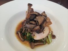 Lunch at Marco Pierre White's Newcastle Restaurant. This chicken with pickled mushrooms was heavenly