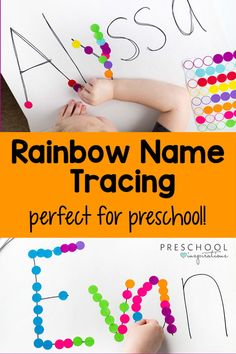 Your kids will love this rainbow name tracing activity. It's a fun and colorful way for preschoolers to learn their name while developing fine motor skills! activities for preschoolers Rainbow Name Tracing Activity Educational Activities For Preschoolers, Special Education Activities, Rainbow Activities, Fine Motor Activities For Kids, Motor Skills Activities, Preschool Learning, Classroom Activities, Kids Education, Preschool Activities