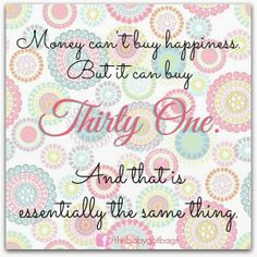 This is actually how I feel!! When I get new Thirty One product I just want to roll around in it and carry it everywhere!!