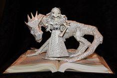 Daenerys and Dragon Book Sculpture by wetcanvas.deviantart.com on @DeviantArt