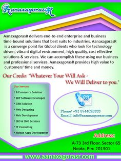AanaxagorasR one of the Best SEO Company in Delhi, India Offers you SEO and SMO Services, Search Engine Marketing Services at very low prices. Plan your website with us. Visit: http://www.aanaxagorasr.com/seoservices.php Or Call- +918744025333  