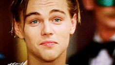 Leonardo DiCaprio While young Beautiful Gif, Beautiful Boys, Pretty Boys, Leonardo Dicaprio Romeo, Leonardo Dicapro, Leo And Kate, Titanic Movie, Celebrity Crush, Cute Guys