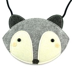 - Description - Details Play dress up with this adorable fox shaped animal themed bag in grey! It's handmade from felt and designed for kids! Fun and cute! For more animal themed bags and purses just