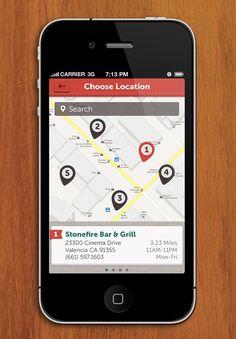 Food app - map
