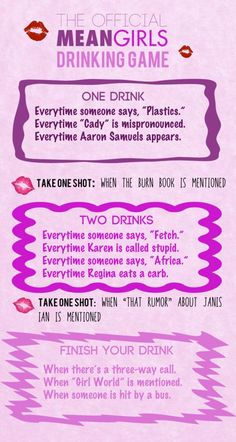"""The Totally Official """"Mean Girls"""" Drinking Game:"""