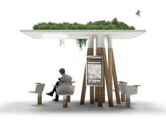 An updated small scale version of the suspended gardens of Babylon can be admired these days in Paris. French designer, Mathieu Lehanneur developed an