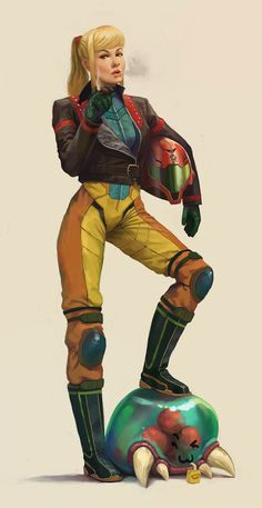 Primer personaje femenino de los videojuegos [Samus Aran]