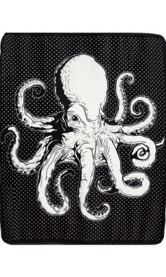 Wrap all 8 tentacles around you with this super soft, super snugly blanket. Made…