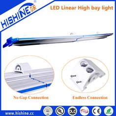 linear high bay light, wiring-through connection 7 years warranty