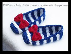 CROCHET SAILOR SHOES Tutorial ✿Teresa Restegui http://www.pinterest.com/teretegui/✿