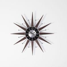 Hans Andersen Home George Nelson Wooden Starburst Clock