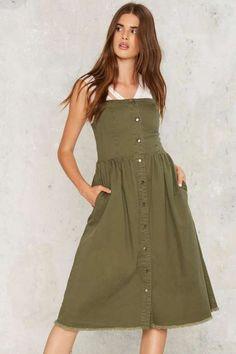 Rashida Denim Midi Dress - Dresses